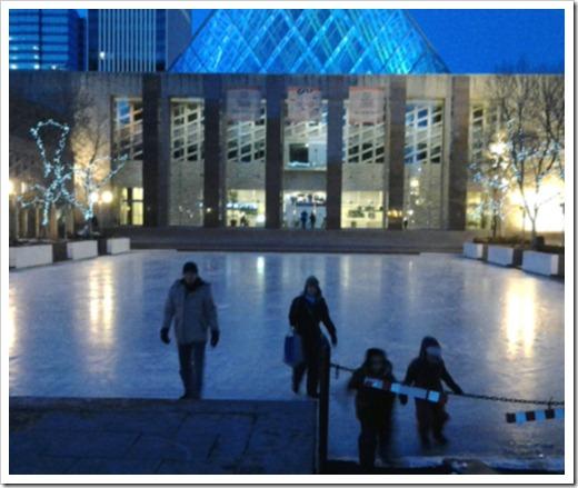 Winter Skating at City Hall