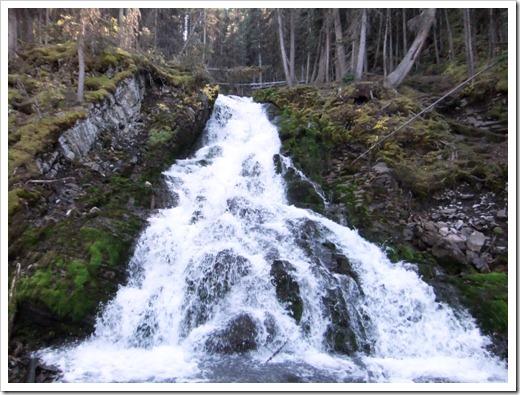 Waterfall in Peter Loughheed Provincial Park