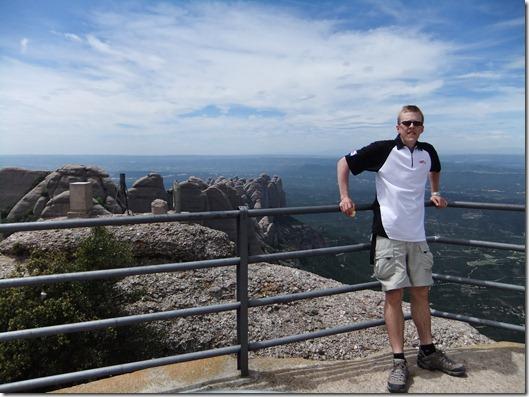 Me at Sant Jeroni — the highest point of Montserrat