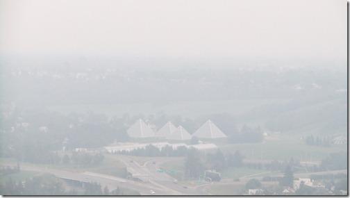 Edmonton Wreathed in Smoke