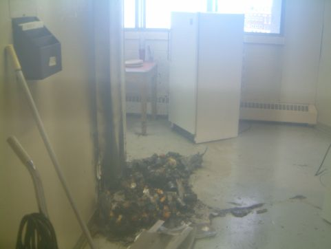 Fire Damage in Lister Kitchen